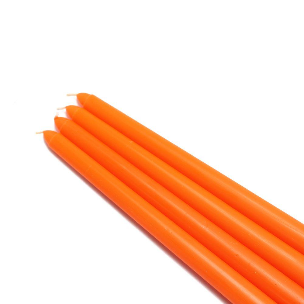 12 in. Orange Taper Candles (12-Set)