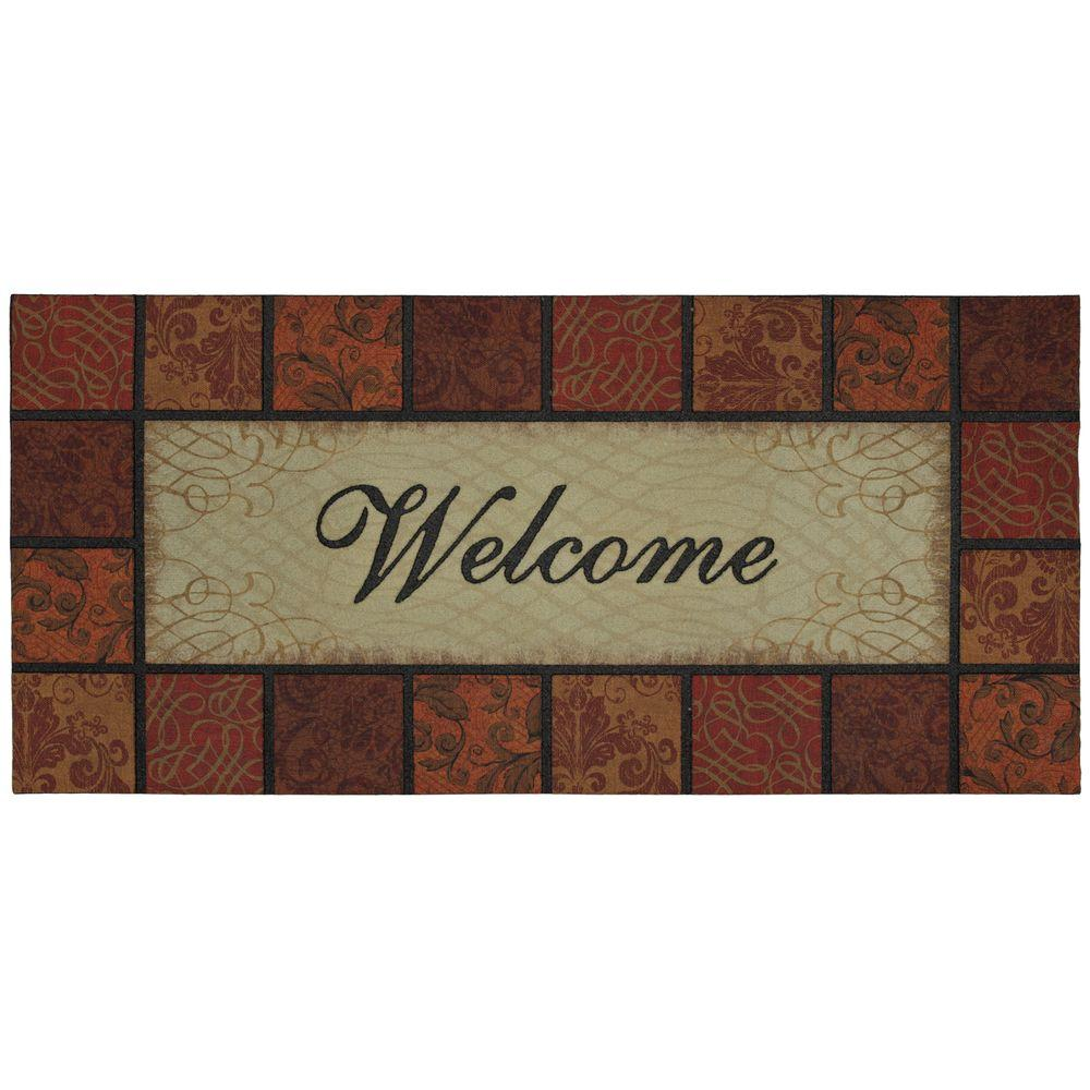 Mohawk Home Poppy Spices Red Crumb Rubber 22 in. x 47 in. Door Mat-DISCONTINUED