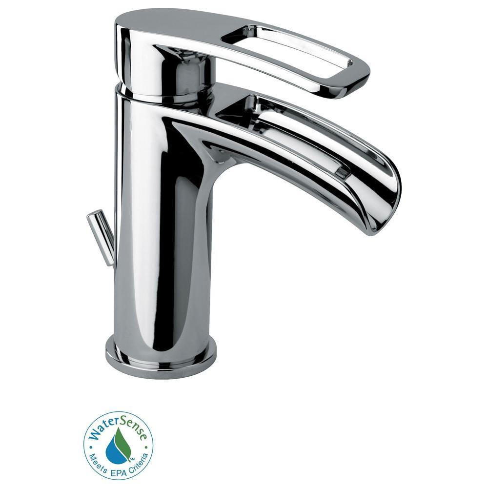 Novello Single Hole SingleHandle Low-Arc Bathroom Faucet in Chrome