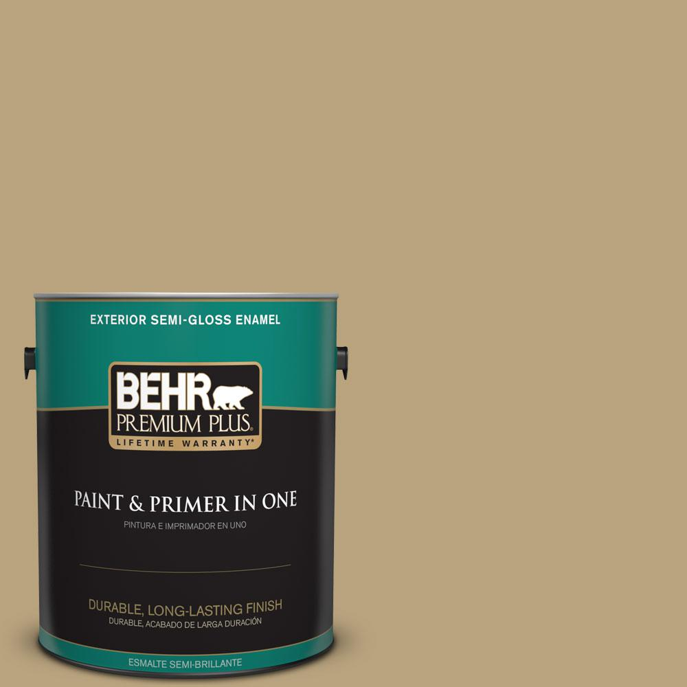 BEHR Premium Plus 1-gal. #T13-4 Golden Age Semi-Gloss Enamel Exterior Paint