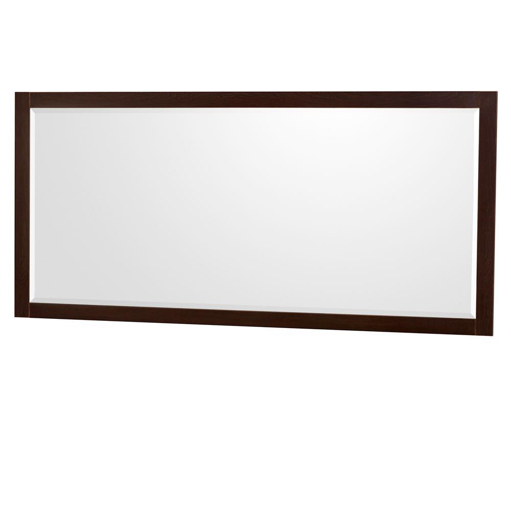Daniella 70 in. W x 33 in. H Framed Wall Mirror in Espresso