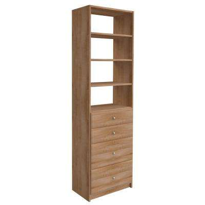 W Nutmeg Drawer And Shelving Tower Kit
