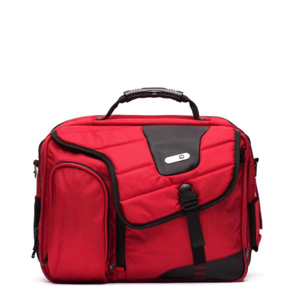 Ful Red Commotion Messenger Bag for 17 in. Laptops
