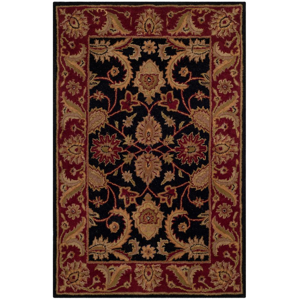 Safavieh Classic Black/Burgundy 4 Ft. X 6 Ft. Area Rug