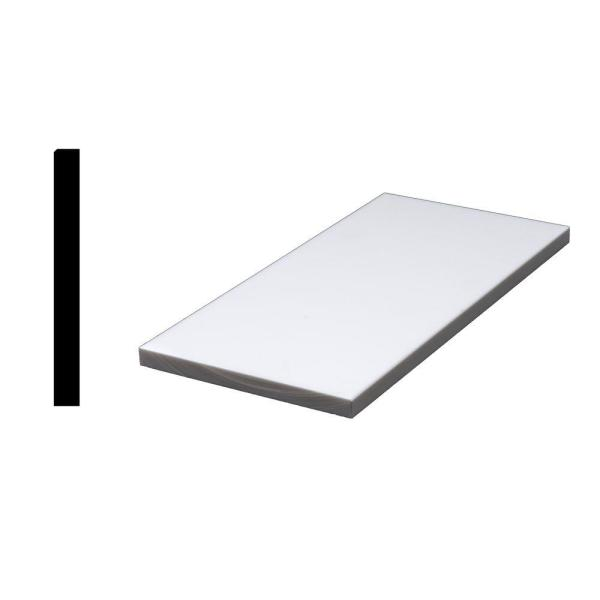 Designer White 1/2 in. x 4-7/8 in. x 36 in. Acrylic Sanded Eased Edge Window Sill Moulding