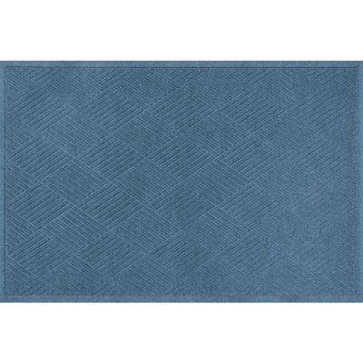 WaterGuard Diamonds Bluestone 3 ft. x 5 ft. Polypropylene Mat