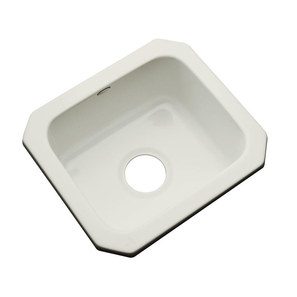 Thermocast Manchester Undermount Acrylic 16 in. 0-Hole Single Bowl Entertainment Sink in Tender Grey