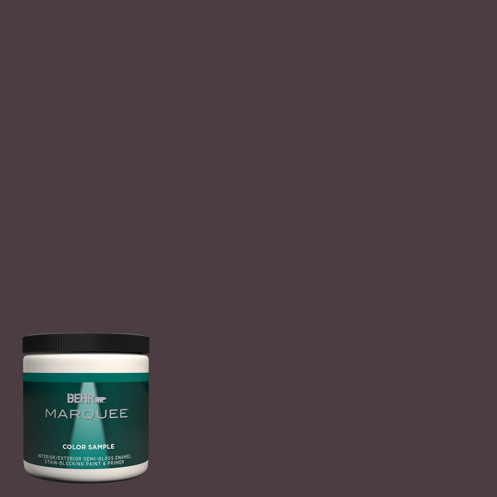 Behr Marquee 8 Oz T18 04 Nocturne Shade Semi Gloss Enamel Interior Exterior Paint Sample