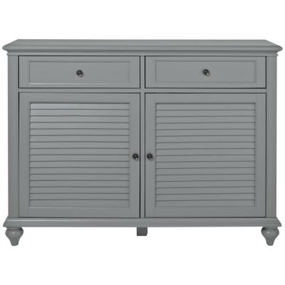 Hamilton 47 in. Distressed Gray Standard Rectangle Wood Console Table with Drawers