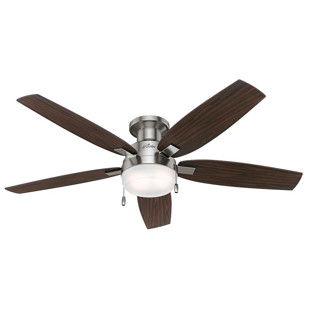 Hunter Duncan 52 inch LED Indoor Brushed Nickel Ceiling Fan by Hunter