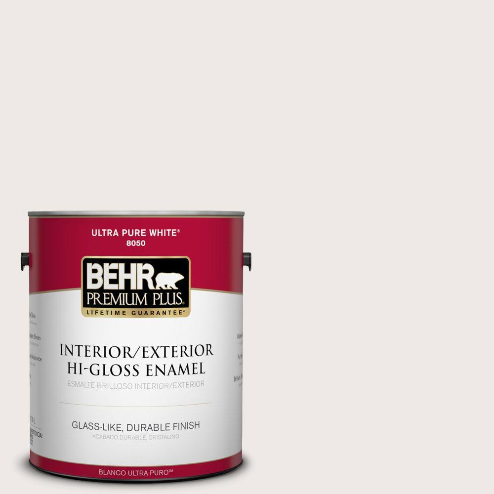 BEHR Premium Plus 1-gal. #750A-1 Chalk Hi-Gloss Enamel Interior/Exterior Paint