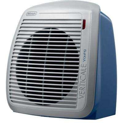 1500-Watt Radiant Portable Fan Heater - Blue/Gray