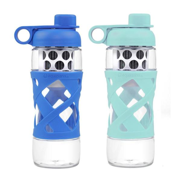 Aquasana 22 Oz Water Bottle With Built In Filter System