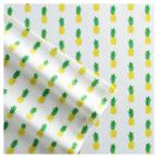 Poppy & Fritz Pineapples 3-Piece Yellow 200 Thread Count Twin XL Sheet Set