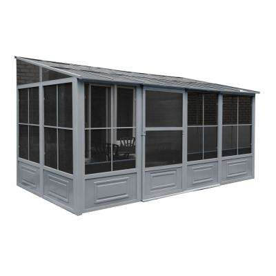 8 ft. x 10 ft. x 16 ft. Aluminum Add-A-Room in Grey