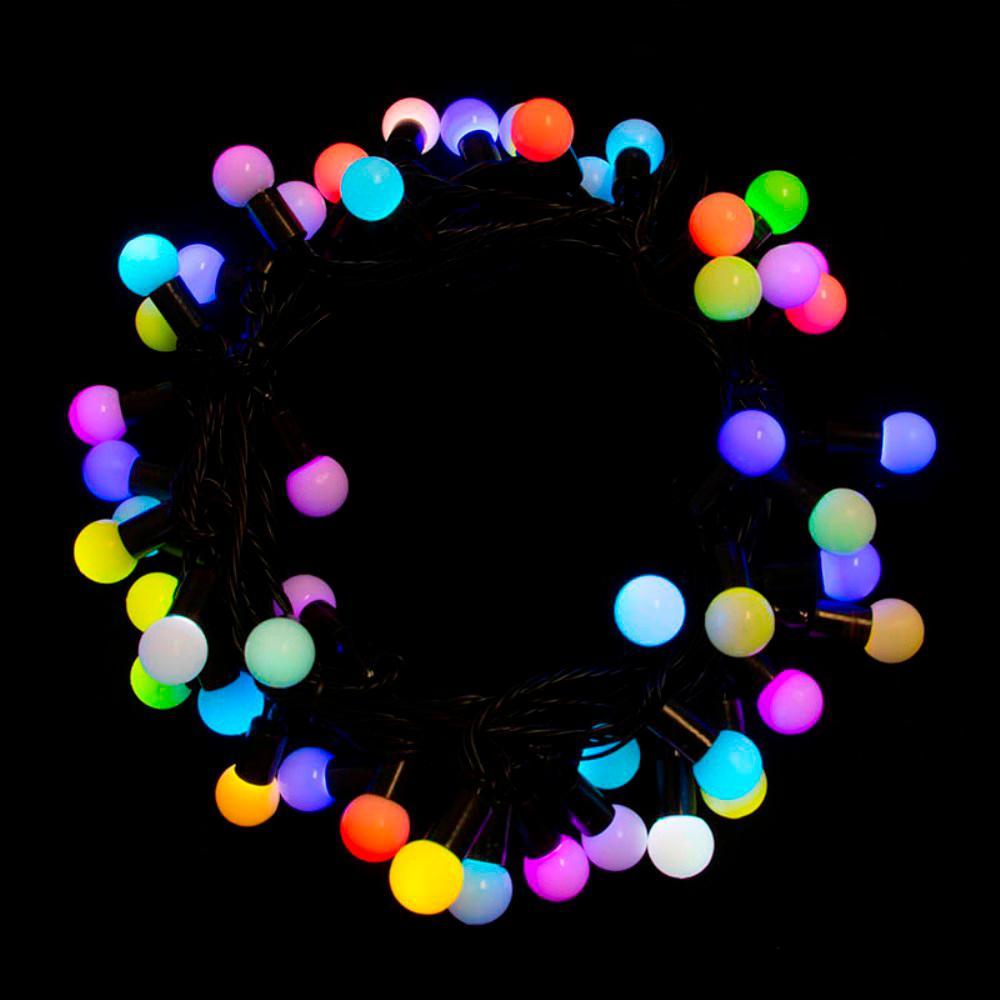 19.5 ft. 50-Light LED Multi-Color Electric Powered String Lights