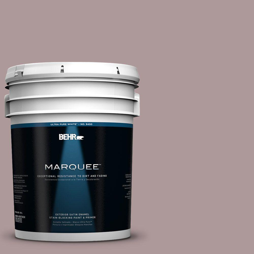 BEHR MARQUEE 5-gal. #110F-4 Heirloom Orchid Satin Enamel Exterior Paint