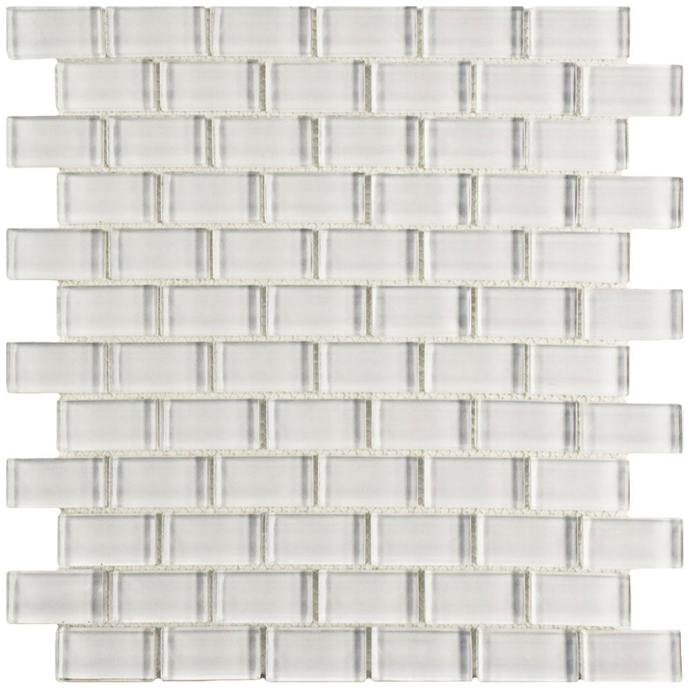 Merola tile tessera subway ice white 11 34 in x 11 34 in x 8 merola tile tessera subway ice white 11 34 in x 11 34 in x 8 mm glass mosaic tile gdmsbic the home depot dailygadgetfo Choice Image