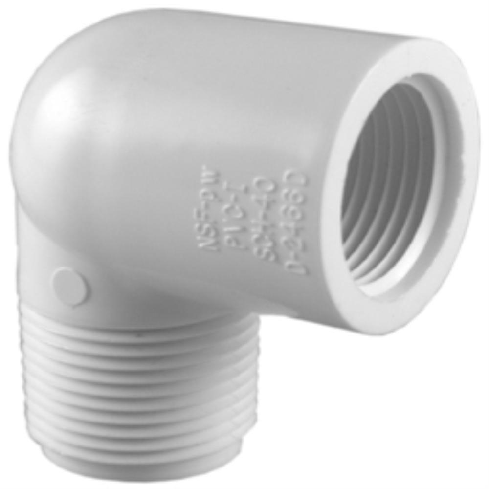 1 in. PVC Sch. 40 90-Degree MPT x FPT Street Elbow