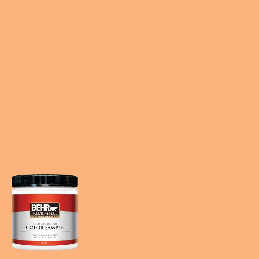 BEHR Premium Plus 8 oz. #P220-5 Fuzzy Peach Interior/Exterior Paint Sample