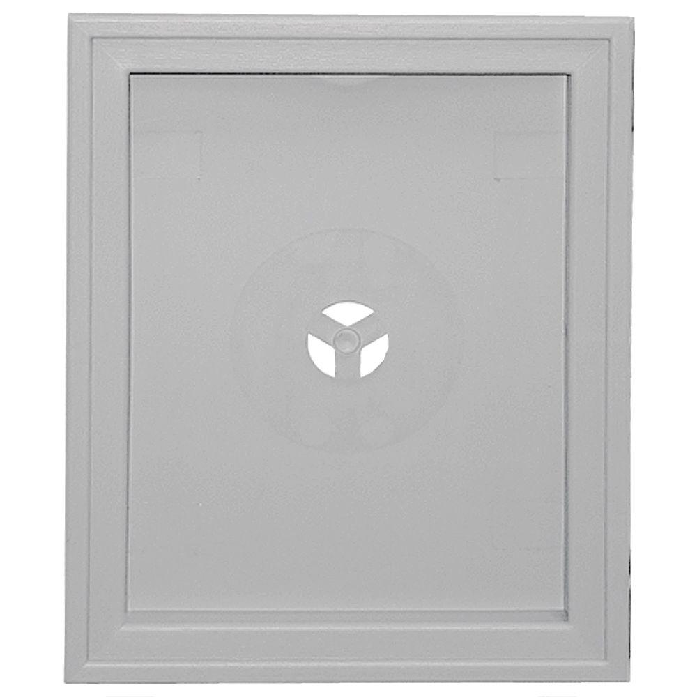 Builders Edge Large Recessed Mounting Block #016-Gray