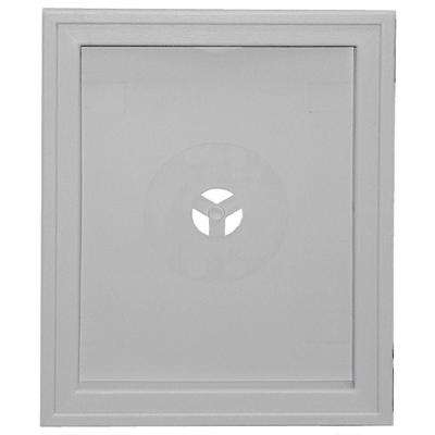 6.75 in. x 8.75 in.  #016 Gray Large Recessed Universal Mounting Block