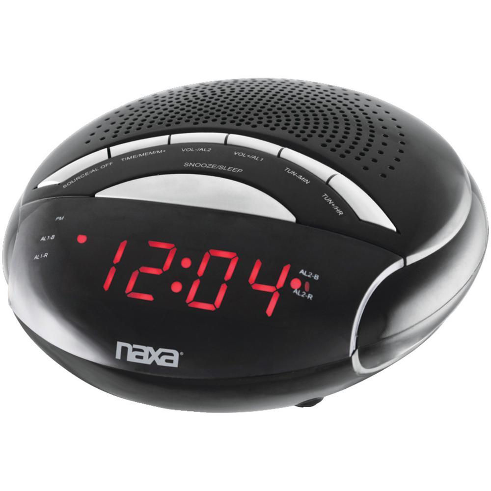 Naxa Digital Alarm Clock with AM/FM Radio by Naxa