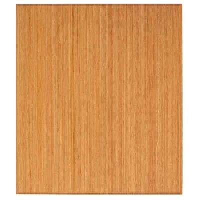 Natural Color 42 in. x 48 in. Bamboo Tri-Fold Plush Chair Mat with No Lip