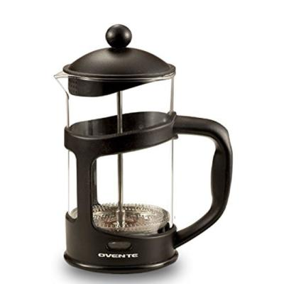 3-Cup Black French Press Cafetire Coffee and Tea Maker with Heat-Resistant Glass, FREE Measuring Scoop