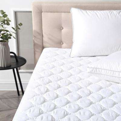 Deluxe Cotton Twin-Size Quilted Waterproof Mattress Pad and Protector