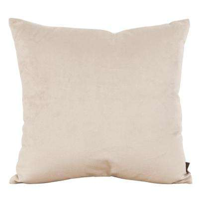 Bella Brown Sand 16 in. x 16 in. Decorative Pillow
