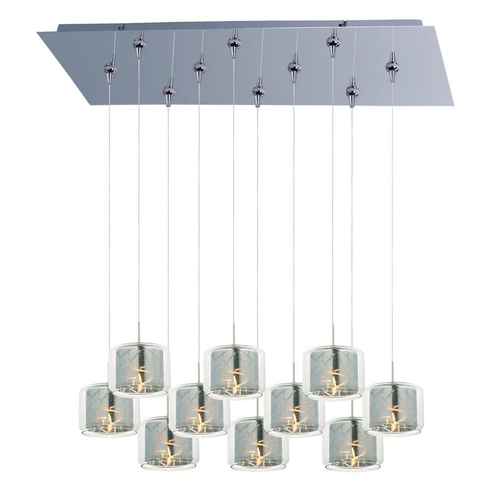 Filament Design Coit 10-Light Polished Chrome Xenon Ceiling Pendant