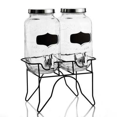 Blackboard Glass Beverage Dispensers (set of 2)