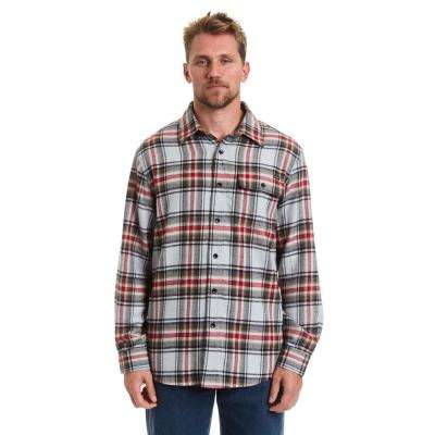 Men's XLarge Navy Button Front Flannel Shirt
