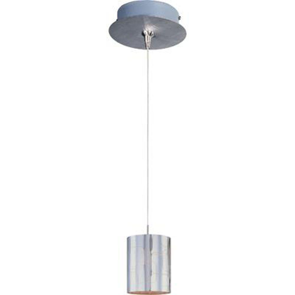 null Silver Plate 1-Light Satin Nickel RapidJack Pendant and Canopy