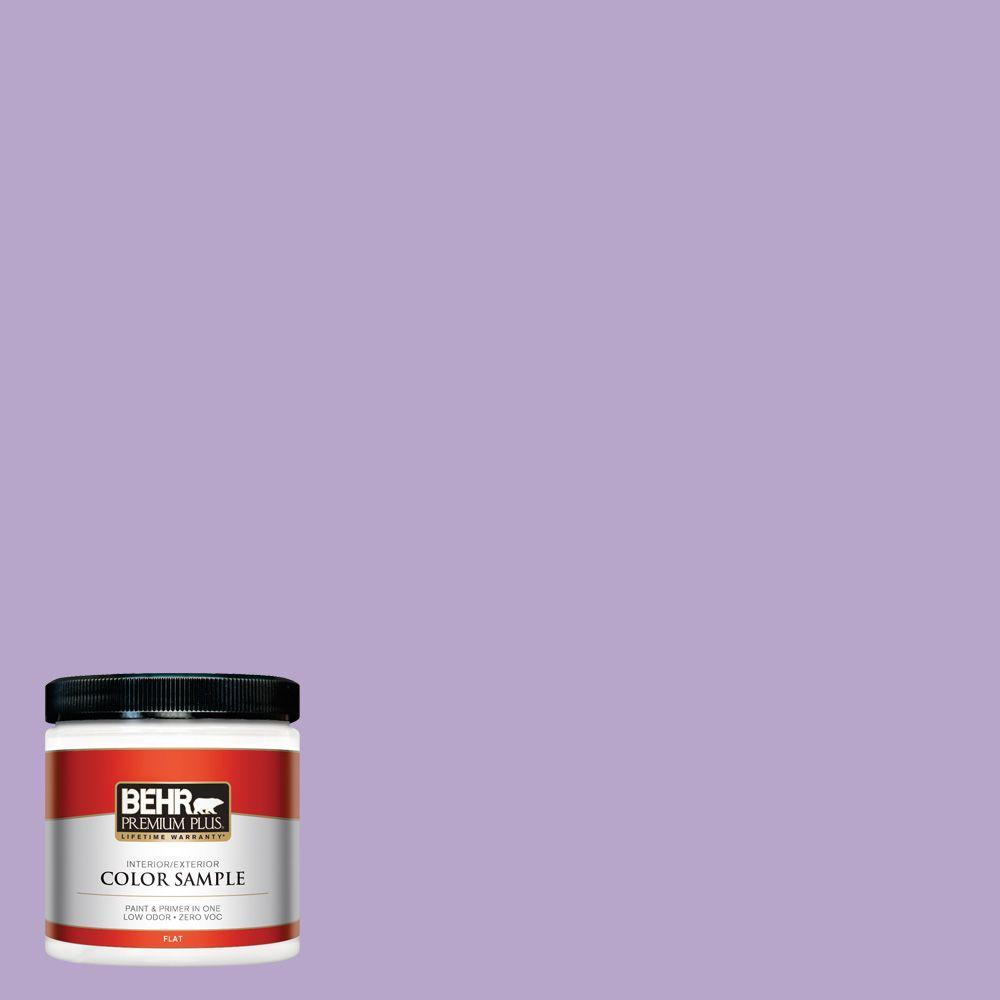 BEHR Premium Plus 8 oz. #650B-4 Violet Fields Interior/Exterior Paint Sample