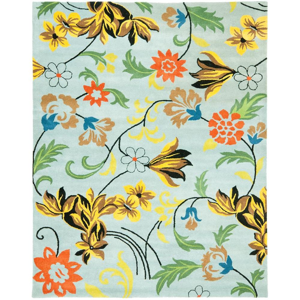 Safavieh Soho Blue/Multi 7 ft. 6 in. x 9 ft. 6 in. Area Rug