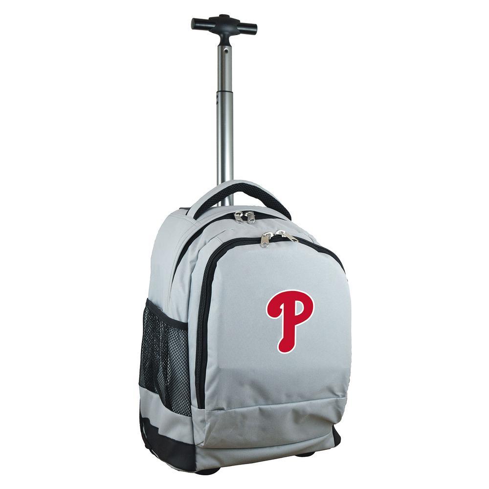 MLB Philadelphia Phillies  Wheeled Premium Backpack in Gray