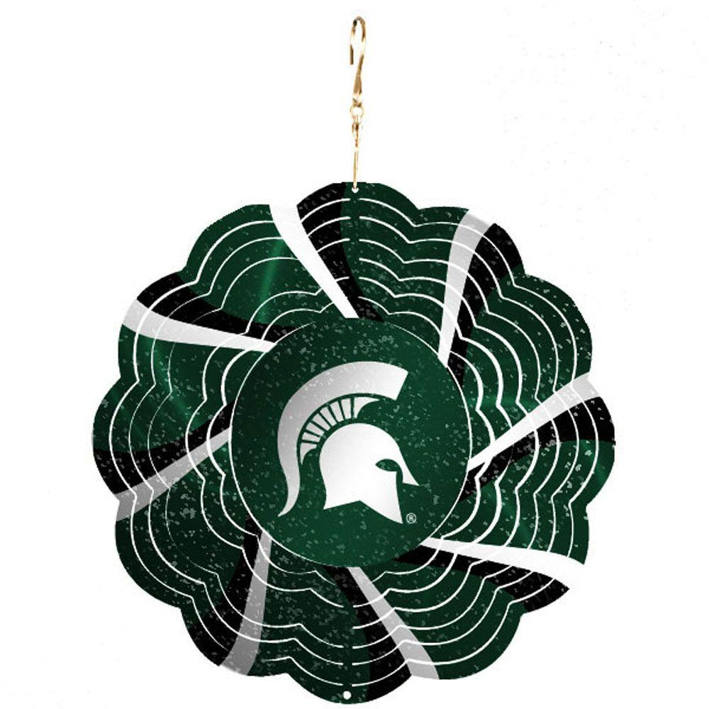 NCAA 10 in. Michigan State University Geo Spinner