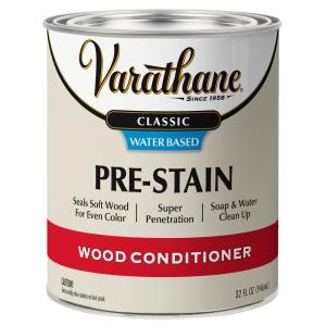 Varathane 1 Qt Classic Water Based Pre Stain Wood Conditioner 340226 The Home Depot