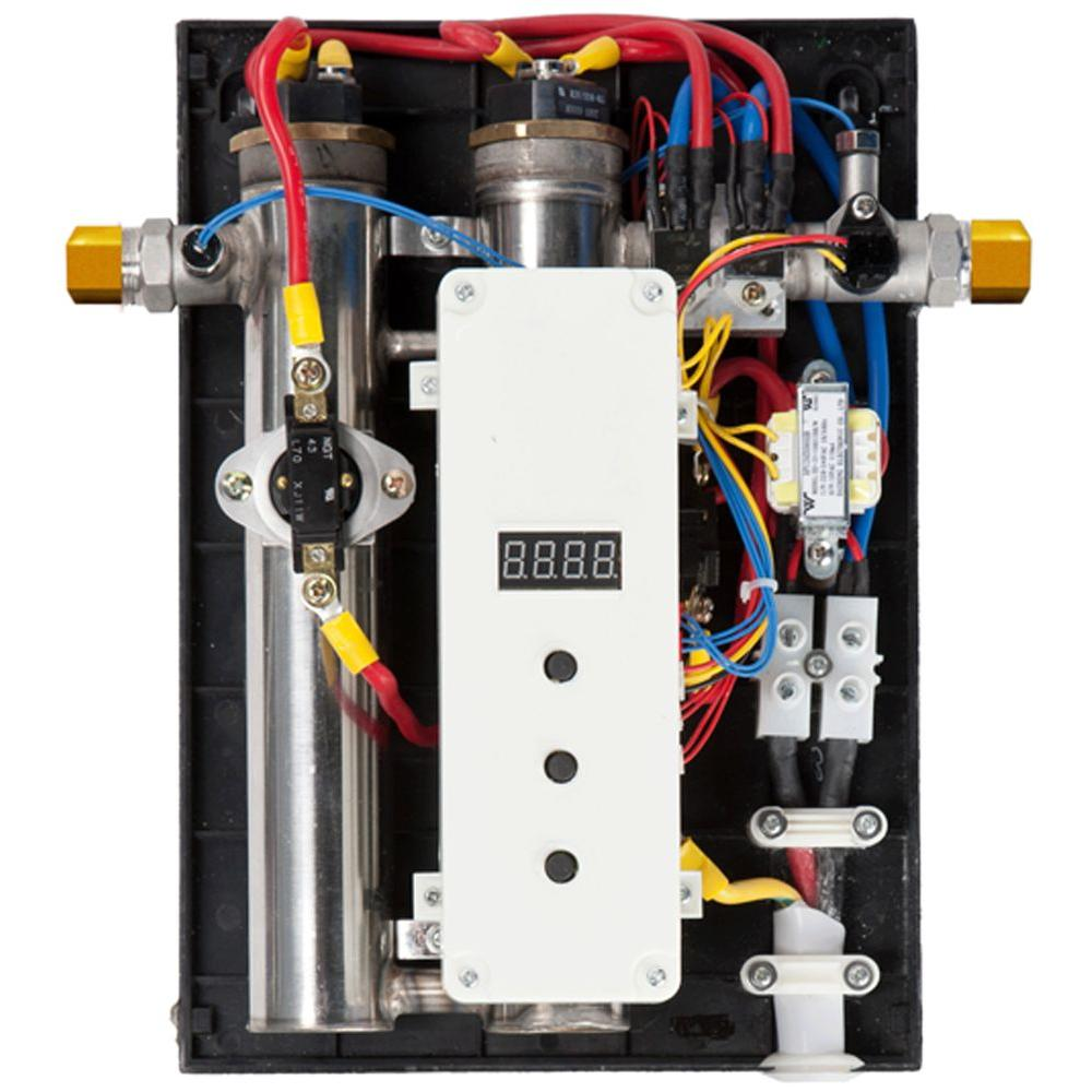 Iheat 14 Kw Real Time Modulating 3 Gpm Electric Tankless Water Heater S 14 The Home Depot