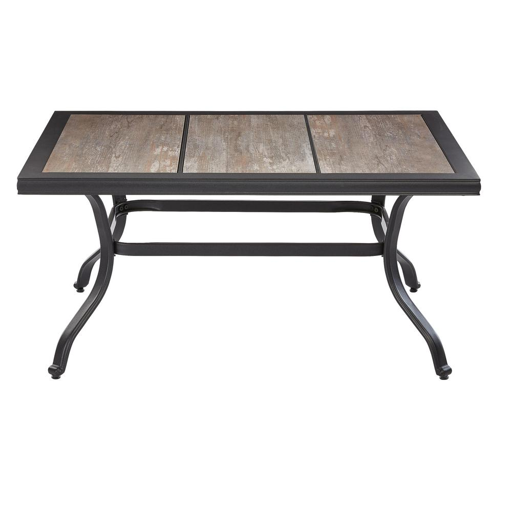 Coffee Table Patio Furniture: Hampton Bay Crestridge Coffee Table Outdoor Wood Pattern