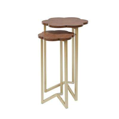 Daphne Gold and Brown Nesting End Tables