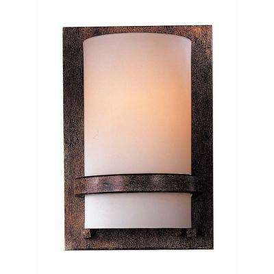 1-Light Iron Oxide Wall Sconce