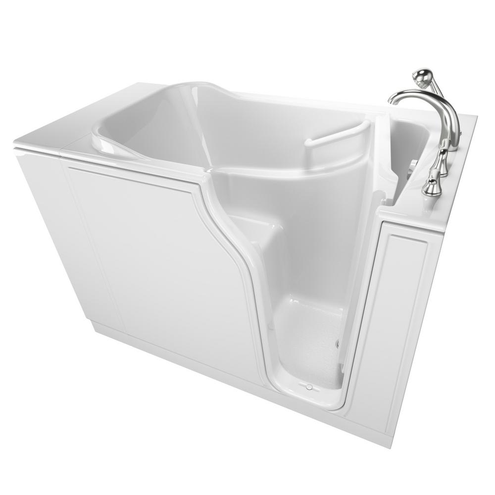 Exceptional Safety Tubs Gelcoat Entry 52 In. Walk In Bathtub In White