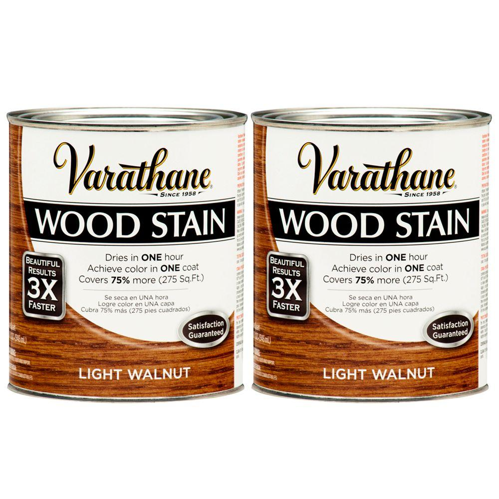 Varathane 1 Qt. Light Walnut Wood Stain (2-Pack)-DISCONTINUED