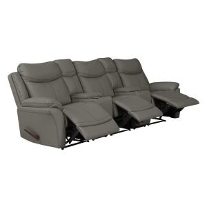 Brilliant Prolounger Taupe Gray Tuff Stuff Fabric 3 Seat Recliner Sofa Dailytribune Chair Design For Home Dailytribuneorg