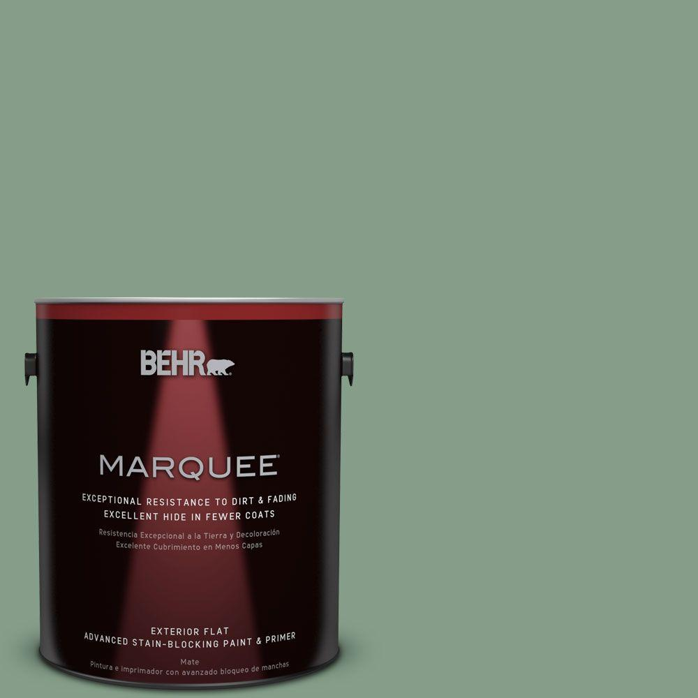 1-gal. #S410-5 Track Green Flat Exterior Paint