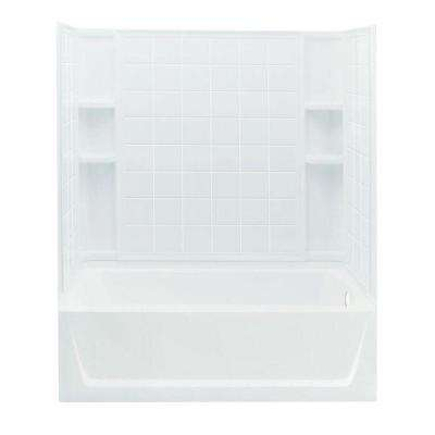 Ensemble 32 in. x 60 in. x 74 in. Standard Fit Bath and Shower Kit in White