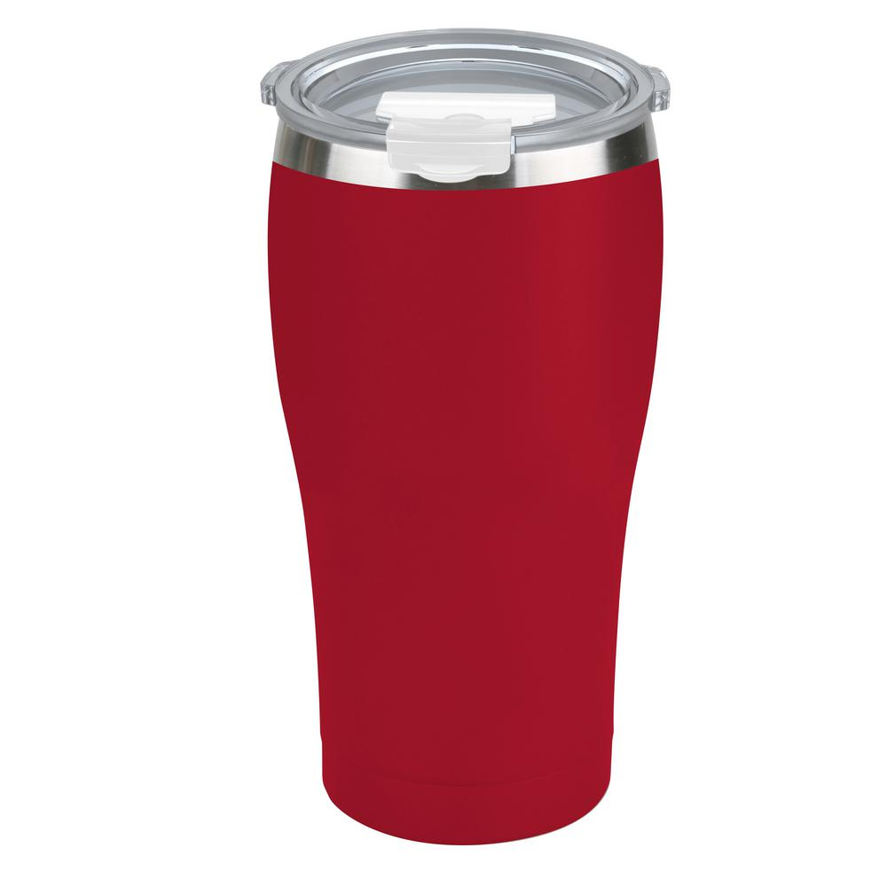 Tahoe Trails 20 oz. Tomato Red Vacuum Insulated Stainless Steel Tumbler (2-Pack)